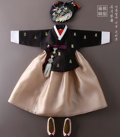 Ideas Fashion Kids Design Style For 2019 Korean Dress, Korean Outfits, Kids Outfits, Korean Traditional Dress, Traditional Dresses, Korean Fashion, Kids Fashion, Fashion Design, Dress Batik Kombinasi