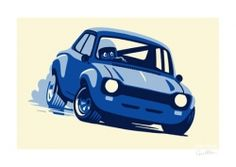 Felix Petrol Ford Escort signed print | Car Gifts, Motoring Gifts and Merchandise | Gearbox Gifts