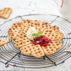Easy to make: German Chocolate Rum Waffles with a German baking mix from Kathi!