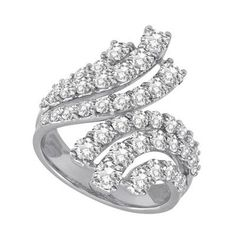14k White Gold Diamond Ring – JewelryWeb | Your #1 Source for Jewelry and Accessories