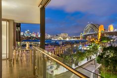 Evening view from the Parbury apartments Walsh Bay Residential Sydney Century 21 City Quarter sale campaign 2015