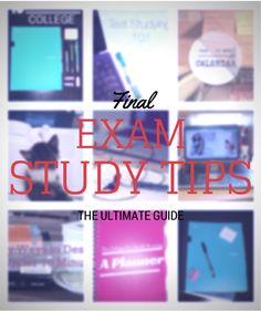 Check out mostlymorgan.com for a compilation of the BEST final exam study tips!