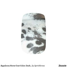 """CLICK """"MINX"""" TO PURCHASE Appaloosa Horse Coat Color: Dark BaSpotted Blanket Minx® Nail Wraps"""