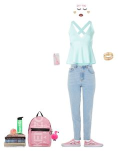 """Go to school"" by firsovaanna on Polyvore featuring мода, Topshop, Boutique Moschino, Vans, Mudd, Paloma Picasso, Battington, Kenzo, Molo и Oliver Peoples"