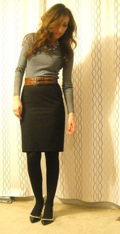 284 Black and white chaps skirt tights boots and belt