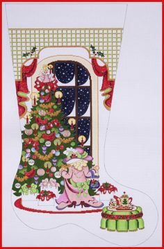 NeedlepointUS - World-class Needlepoint - Gingerbread Village Tree ...