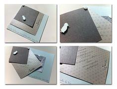 Faire-part naissance carrés superposés - Jolies créations, le blog des Faits à Façon