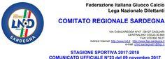 SCRIVOQUANDOVOGLIO: CALCIOSARDO:COMUNICATO UFFICIALE NUMERO 23 FIGC SA...