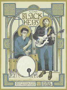 The Black Keys Posters - Dublin Ireland - August 22, 2012