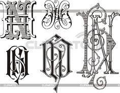 Monogram HN | Stock Vector Graphics | ID 2026099