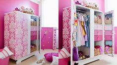 How to make a dress-up cupboard: If overflowing baskets and boxes are taking over your child's bedroom, store dress-up clothes and props in this magical dress-up cupboard.