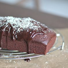 Triple chocolate pound cake - A rich and decadent but moist and soft triple chocolate pound cake.