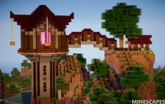 Minecraft Landscapes — Minescapes Landscape 36 Tower by vikingofficial… – J. Minecraft Landscapes — Minescapes Landscape 36 Tower by vikingofficial… – J. Minecraft Tower, Memes Minecraft, Craft Minecraft, Construction Minecraft, Minecraft Structures, Skins Minecraft, Cute Minecraft Houses, Minecraft Plans, Minecraft House Designs