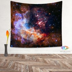 Galaxy Tapestry, Star cluster wall tapestry, Star cluster constellation Carina tapestry wall hanging, Milky Way wall tapestries, Galaxy home decor, Space wall art print