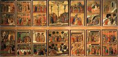 Maestà: - verso (1308-1311; Siena, Museo dell'Opera del Duomo)