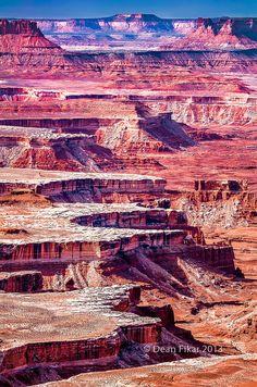 Layered cliffs and canyons near Moab, Utah
