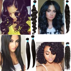 10 -30  PERUVIAN Hair Extension Body/Deep/Curly/Natural Wave/Straight Hair 6A Ho
