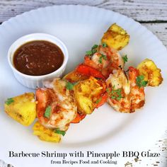 Barbecue Shrimp with Pineapple BBQ Glaze perfect recipe for a summer night.