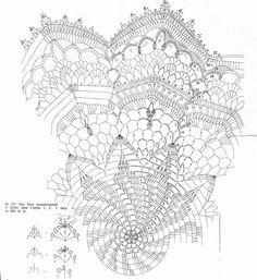 Crochet Center table - Etoile du berger