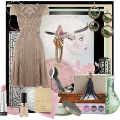 """Sergio and the sweet nude dress"" by linda caricofe on Polyvore"