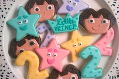 Dora the Explorer Cookies  1 Dozen by LittlePrinceCookies on Etsy