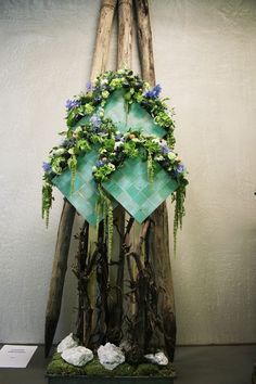 Exam arrangements and decorations from the floristry students of Helicon MBO in Den Bosch, The Netherlands