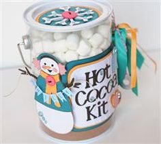 Send warm wishes to a friend with this darling hot cocoa kit. A Child's Year and DonJaun Carts Teacher Christmas Gifts, Teacher Gifts, Christmas Ideas, Xmas, Christmas Stuff, Holiday Ideas, Holiday Crafts, Fun Crafts, Paper Crafts