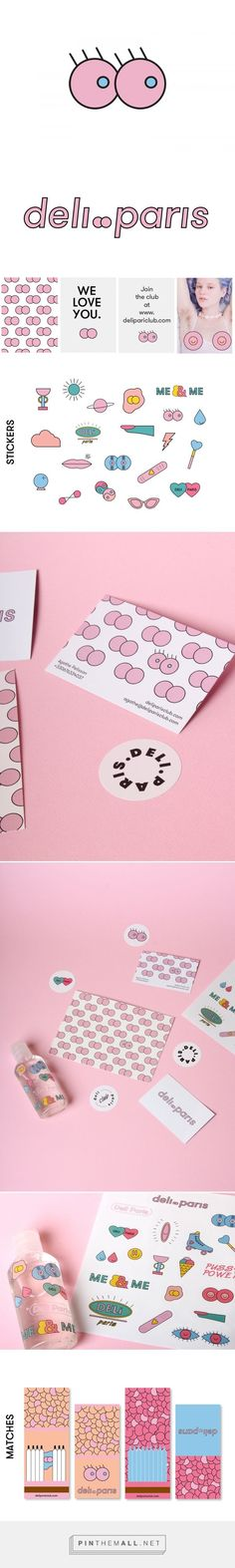 Deli Paris Club Branding - I love how quirky and tongue in cheek this is.
