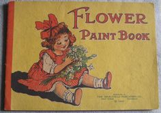 Vintage / Antique 1915 Flower Paint  Coloring by LuvStephenKing