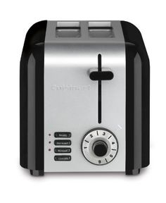 The classic stainless steel toaster gets a modern update with this 2-slice toaster by Cuisinart. It saves space, placed sideways or facing forward, to fit any kitchen consumer. Whether making thick bagel halves or thin sliced breads, the wide slots, high-lift carriage and custom controls ensure... - http://kitchen-dining.bestselleroutlet.net/product-review-for-cuisinart-cpt-320-compact-stainless-2-slice-toaster-brushed-stainless/