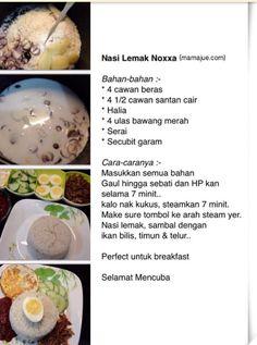 Nasi lemak Nasi Lemak, Electric Pressure Cooker, Pressure Cooker Recipes, Breakfast, Food, Morning Coffee, Electric Pressure Canner, Meals, Yemek