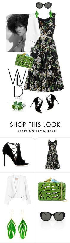 """Wild thing"" by lera-chyzh ❤ liked on Polyvore featuring moda, Gianvito Rossi, Dolce&Gabbana, Rebecca Taylor, Sarah's Bag, Aurélie Bidermann, Victoria Beckham, outfit, dress y trend"