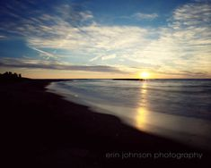 landscape lake photography sunset photograph lake erie presque isle pennsylvania photography landscape beach bathroom decor by eireanneilis