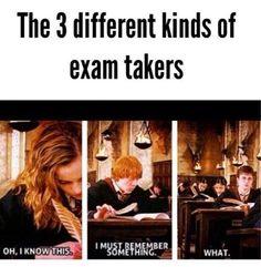 exams....