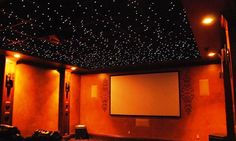 An AcoustiLight Fiber Optic Ceiling Tile is part of a revolutionary acoustical ceiling tile system that adds magic to any high-end ceiling.