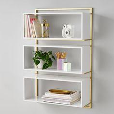 Wall Mounted Bookshelves, Wall Bookshelves, Bookcase White, Bookcases, Wall Shelves For Books, Office Wall Shelves, Black Wall Shelves, Wall Storage Shelves, Cube Shelves