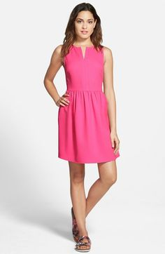 EVERLY+'Rowan'+V-Neck+Skater+Dress+available+at+#Nordstrom