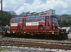 Ein vermutlich schadhafter Büssing-Bus der DB auf dem Kls 442 336 7 189 im Mai 1965
