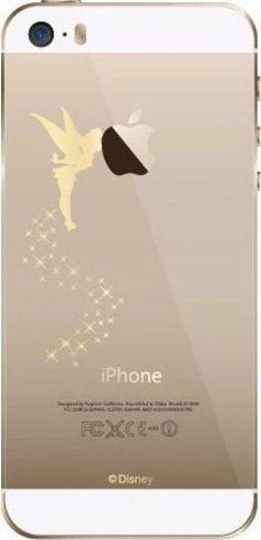 Disney Tinker Bell Clear Hard Case Cover Gold Color For iPhone 5S