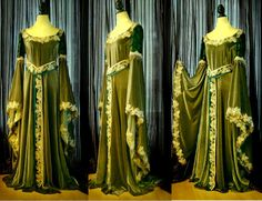 Elven gown Woodelf The Lord of the Rings by VoltoNero on Etsy, $320.00  ... maybe in blues and purples?  I need to learn to sew stat.