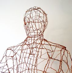 Office Man - Lifesize Copper Wire Sculpture by sparkflight on Etsy https://www.etsy.com/listing/75972438/office-man-lifesize-copper-wire
