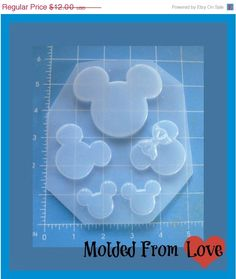 ON SALE For The Love Of The Mouse  Plastic Resin Mold
