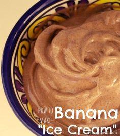 Banana Ice Cream (dairy free - just bananas, cacao powder, nut butter) SOOOOO tasty - great alternative!