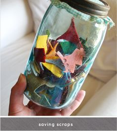 Fantastic idea to store scraps and other small things for my craft activity!