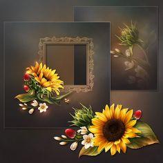 """Moonbeam's ~ """"Bright Yellow Sunflowers"""" ~moonbeam1212."""