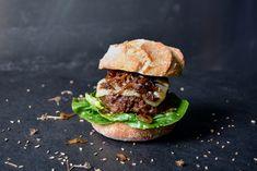 Fennel Burger and Elderflower Onion Sandwich with Gruyère