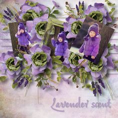 "The template pack ""CherishTheMoment"" kit Lavender scent Designs by Brigit"
