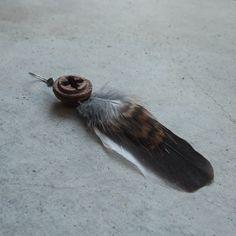 Feather earring  single  Kookaburra by NaturesArtMelbourne on Etsy, $29.00