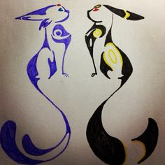 Espeon and Umbreon Pokemon Memes, Pokemon Fan Art, My Pokemon, Pokemon Fusion, Pikachu, Evoluções Eevee, Umbreon And Espeon, Eevee Evolutions, Ying Yang