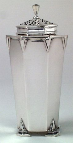 Art Deco English Sterling Muffineer, Charles S. ... | Cruets & Casters